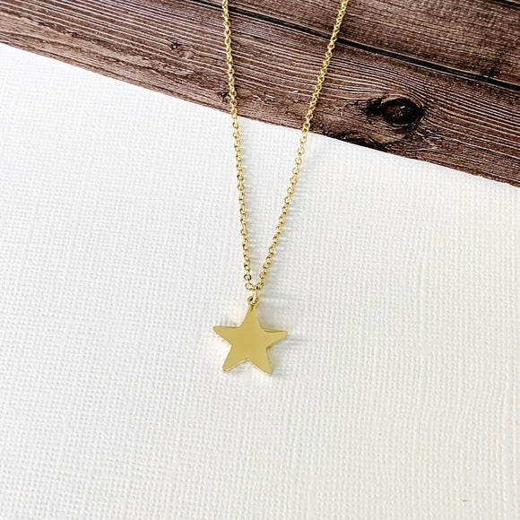 Baubles & Bits Boutique :: Lisa Petite Star Necklace - Gold