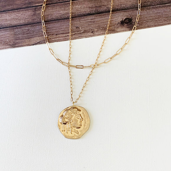 Layered Look Necklaces :: Milani Coin - Gold