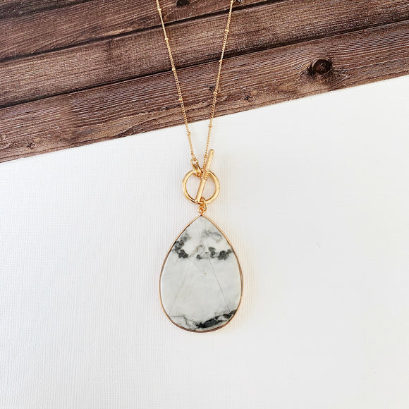 Baubles & Bits Boutique Collection :: Howlite Teardrop