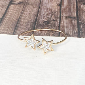 Boutique Bracelet Collection :: Chayna Gold Star Cuff Bracelet