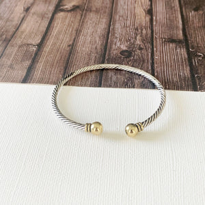 Cable Bracelet Collection :: Sherry Mixed Metals