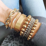 Boutique Bracelet Collection :: Bailee Brushed Gold Cuff Bracelet