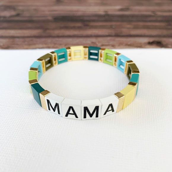 Boutique Bracelet Collection :: Mama Tile Bracelet Green Multi