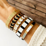 Boutique Bracelet Collection :: Valerie Black & White Tile Bracelet