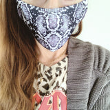 Reusable Face Mask :: Snake Print
