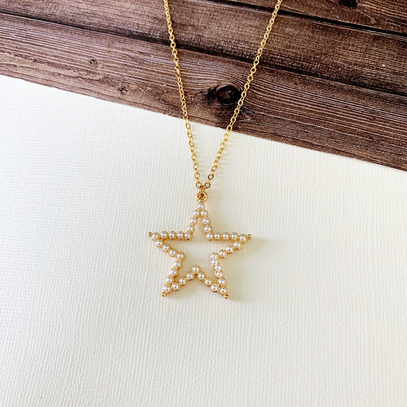 Baubles & Bits Boutique :: Alia Pearl Star Short Necklace