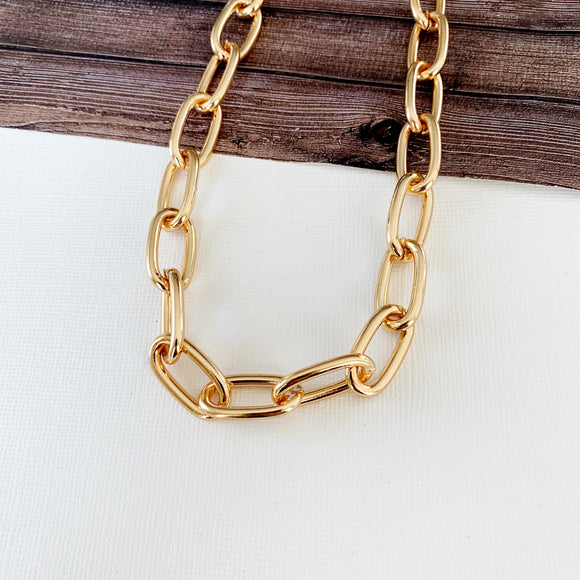 Baubles & Bits Boutique :: Jazmine Chunky Necklace - Gold