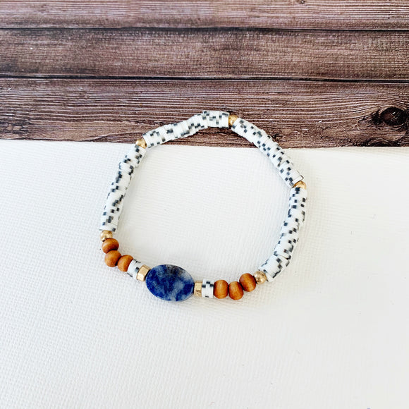 Beach Bracelet Collection :: Trudy Sodalite