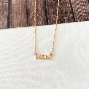 Baubles & Bits Boutique :: Petite MOM Necklace - Gold