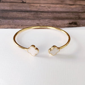 Cable Bracelet Collection :: Clover Pearl