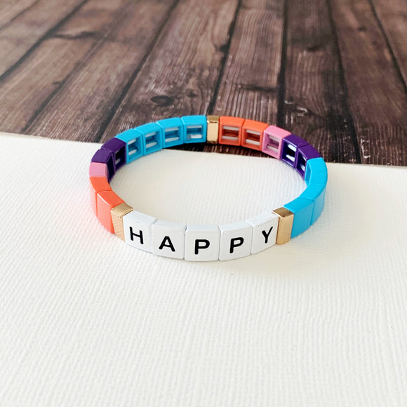 Boutique Bracelet Collection :: Happy Turquoise Tile Bracelet