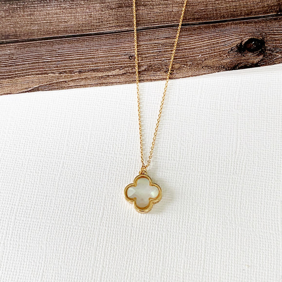 Baubles & Bits Boutique :: Anna Opal Quatrefoil Necklace