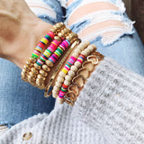 Beach Bracelet Collection :: Kayla Multi-Hued Wrap