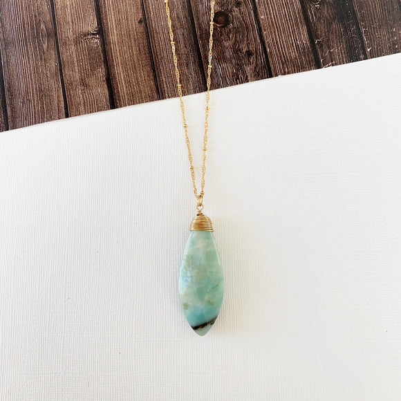 Spring Refresh Necklace Collection :: Amaya Amazonite Dagger Pendant