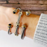 Cable Bracelet Collection :: Becky Mixed Metals