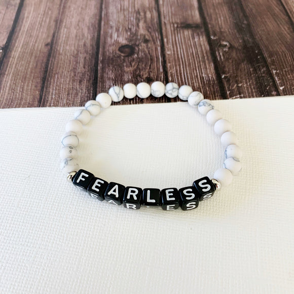 Boutique Bracelet Collection :: Jessica Fearless Natural Stone - Howlite
