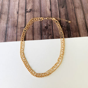 Baubles & Bits Boutique :: Jessa Triple Link Layered - Gold
