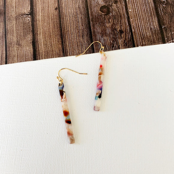 Watercolor Earring Collection :: Scarlett Lucite Stiletto Drops