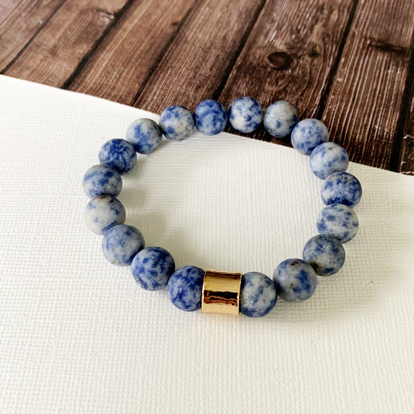 Boutique Bracelet Collection :: Ella Natural Stone - Sodalite