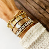 Boutique Bracelet Collection :: Nora Petite Gold & Silver Ball Bracelets