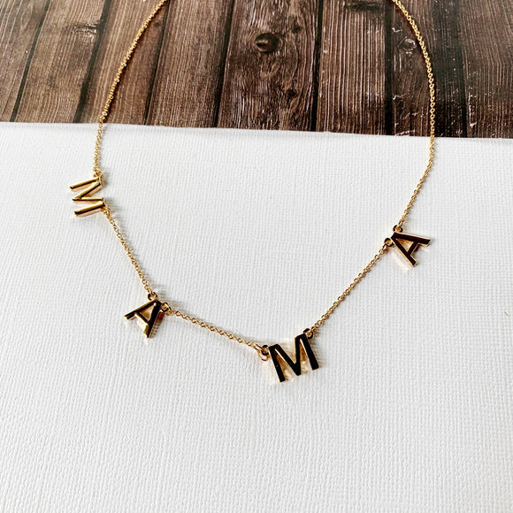 Baubles & Bits Boutique :: MAMA Necklace - Gold