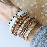 Boutique Bracelet Collection :: Ashley Gold Chevron