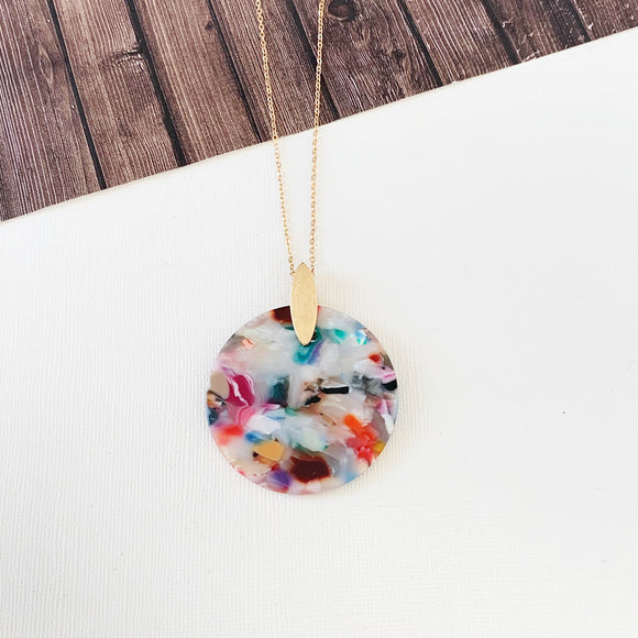 Spring Fever Necklace Collection :: Watercolor Disc Pendant