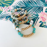 Boutique Bracelet Collection :: Cecelia Natural Stone - Turquoise