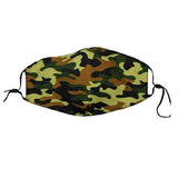 Reusable Face Mask :: Green Camo