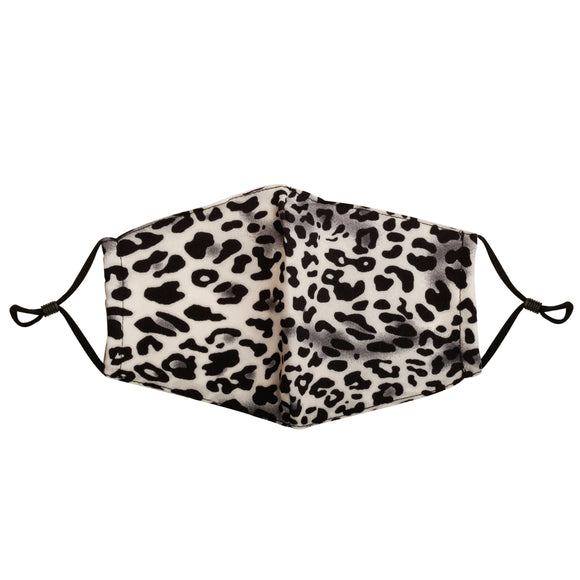 Reusable Face Mask :: Grey Leopard