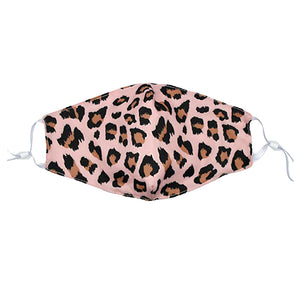 Reusable Face Mask :: Pink Leopard