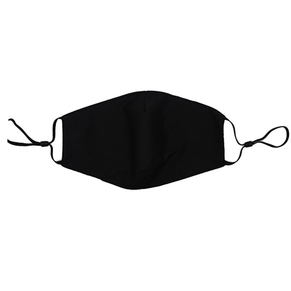Reusable Face Mask :: Solid Black