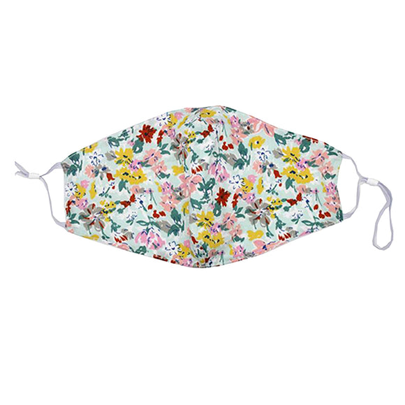 Reusable Face Mask :: Light Floral