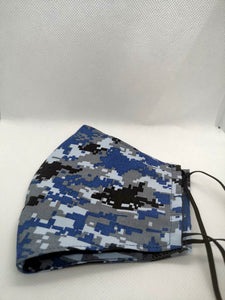 Blue pixel Cloth Face Mask
