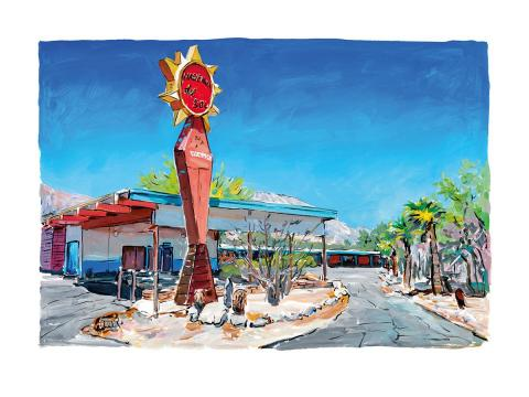 Bob Dylan Motel In New Mexico - Medium - 2017 in stock