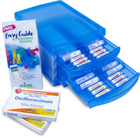Homeopathic Family Kit with 32 Remedies and 2 boxes of Oscillococcinum