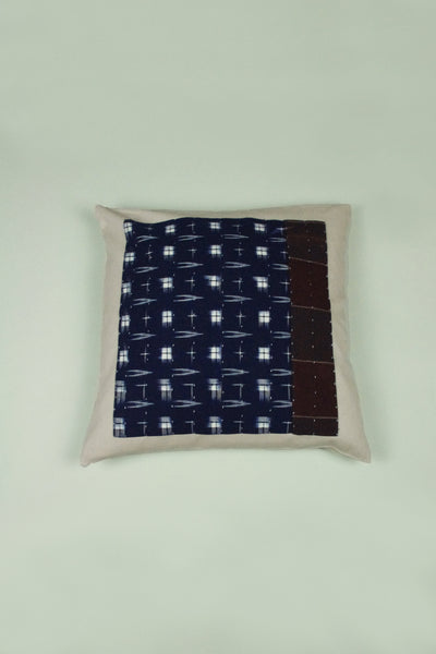 Kasuri Cushion Navy