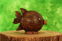 G6 Collection Unique Handmade Wooden Cow Cute Coin Piggy Bank Statue Figurine Handcrafted Wood Hand Carved Decorative Keepsake Saving Money Adorable Kids Room Decor Gift Cow Bank