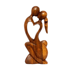 "12/"" Wooden Abstract Sculpture Statue Hand Carved /""Forever Mine/"" Gift Home Decor"