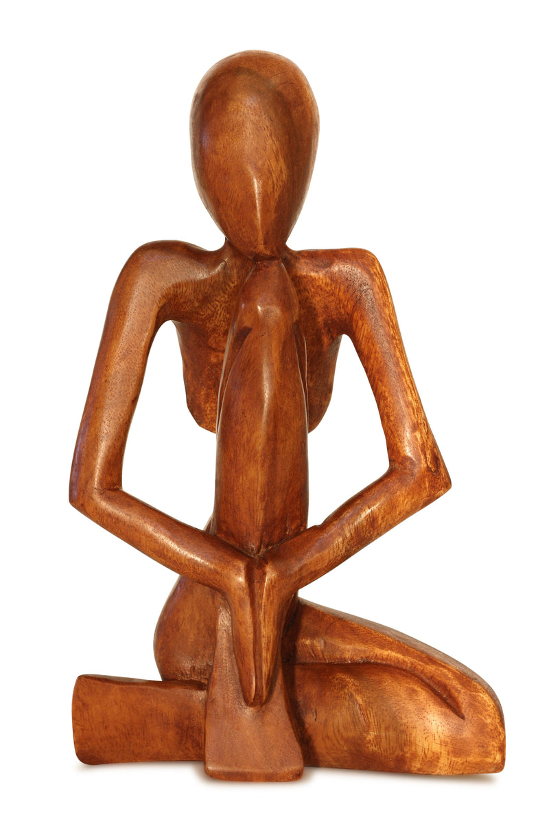 12 Abstract Sculpture Wooden Handmade Handcrafted Art Praying Man S G6 Collection
