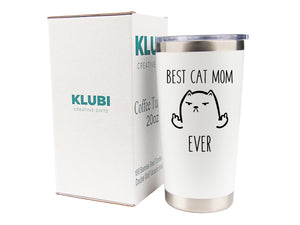 Cat Mom Travel Mugs/Tumbler - 20oz Mug for Coffee/Tea