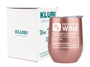 Nurse Gifts for Women Funny -Prescription Tumbler for Wine/Coffee