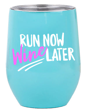 Gifts for Runners - Wine Tumbler 12oz with Lid for All Drinks