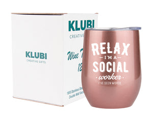 Social Worker Gifts - Tumbler/Mug 12oz for Coffee, Wine or Any Drink