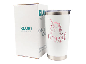 Unicorn Gifts for Women - Travel Coffee Mug/Tumbler with Lid 20oz - Funny Gift for Unicorn Lovers, Adults Cute Mugs by Tough Tumblers