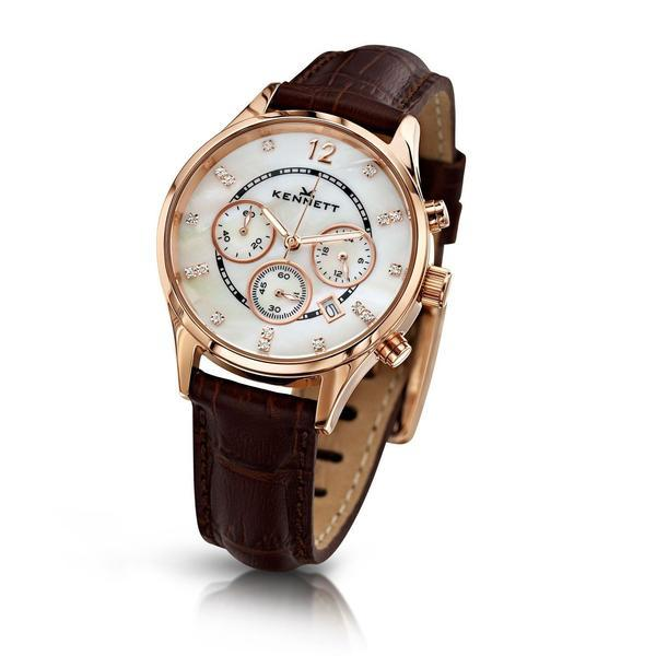 Kennett Watch Brown Lady Savro Watch - Rose Gold