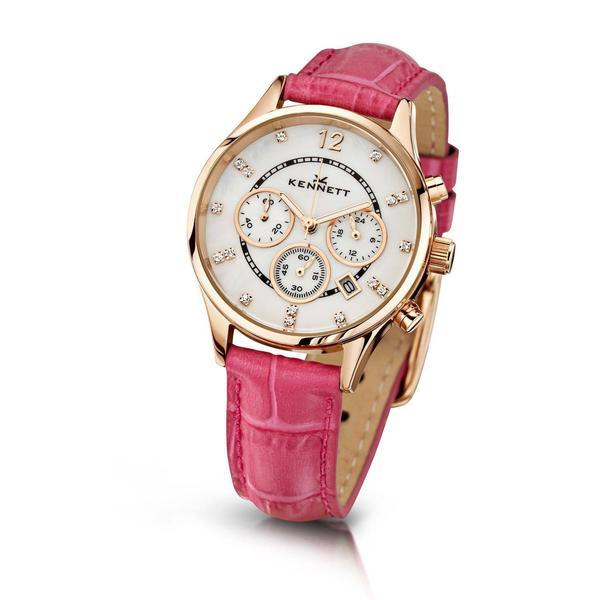 Kennett Watch Hot Pink Lady Savro Watch - Rose Gold