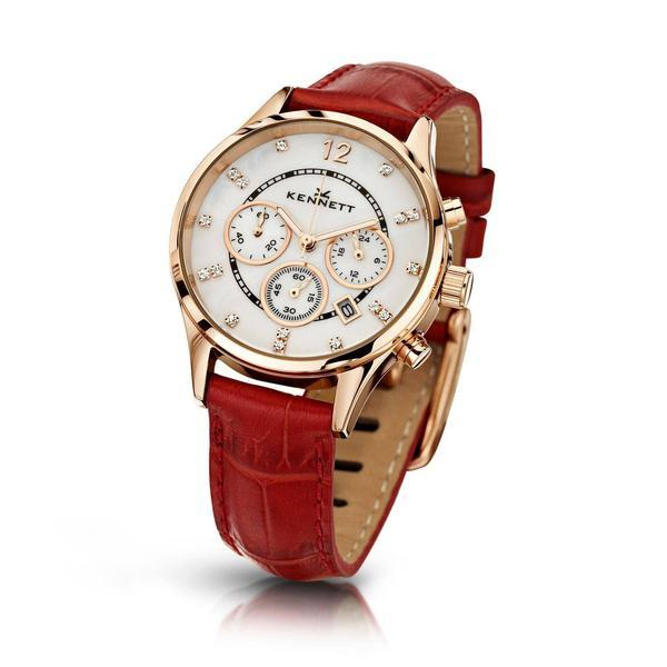 Kennett Watch Red Lady Savro Watch - Rose Gold