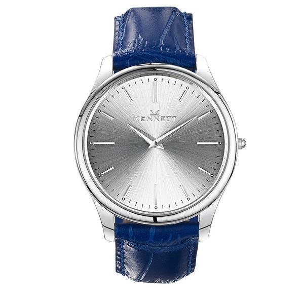 Kennett Watch Royal Blue Kennett Kensington Silver unisex Watch - Leather Strap