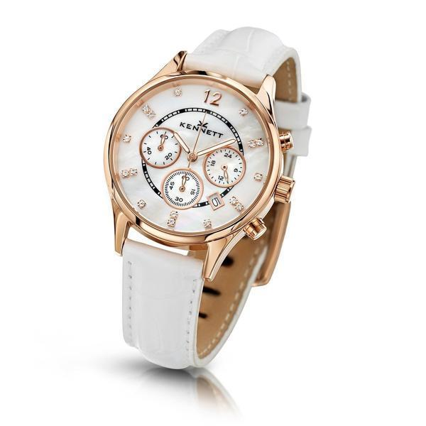 Kennett Watch White Lady Savro Watch - Rose Gold